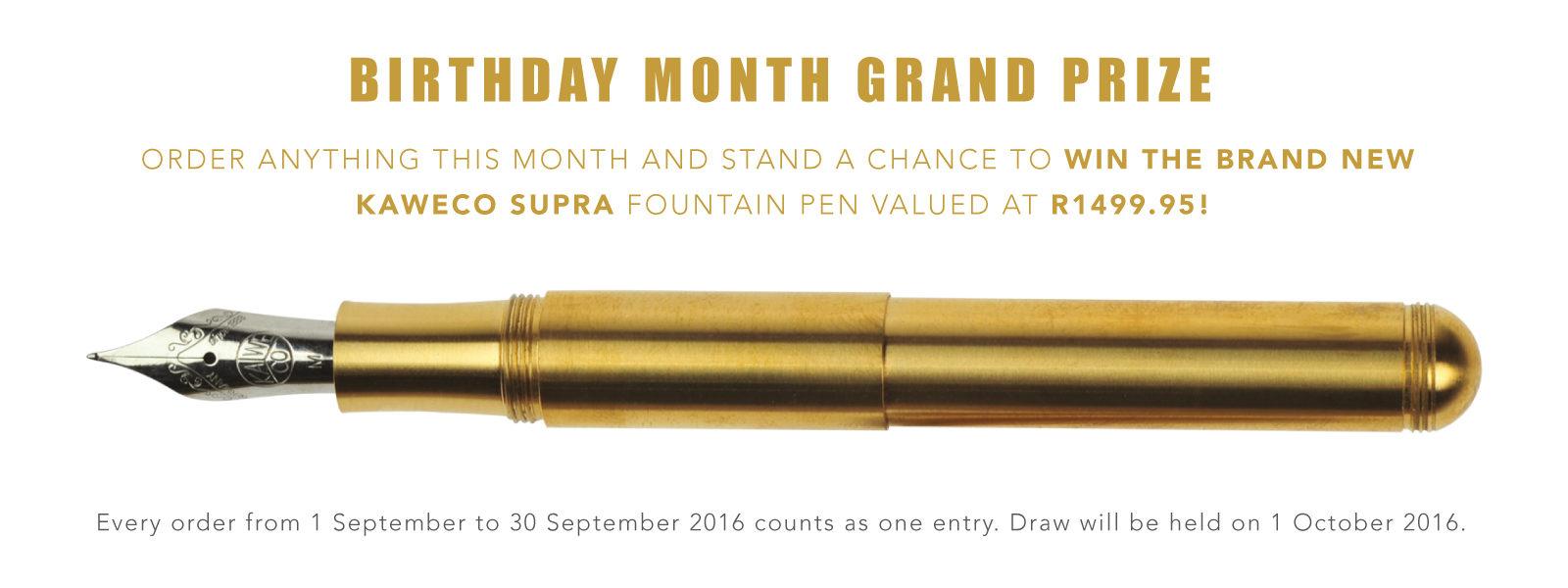 Win a Kaweco Supra Fountain Pen