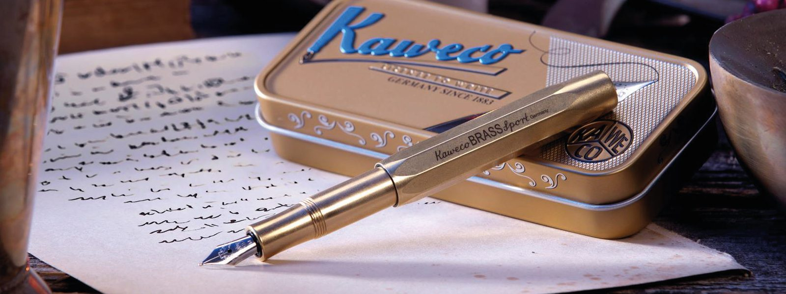 Kaweco Brass Sport Fountain Pen Front Cover
