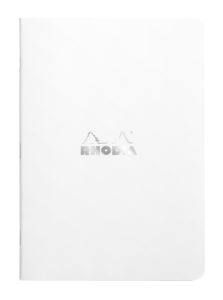Rhodia White Classic Stapled Notebook - A5