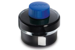 Lamy Blue Ink Bottle With Ink Residue Collection Basin and Blotting Paper