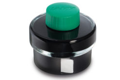 Lamy Green Ink Bottle With Ink Residue Collection Basin and Blotting Paper