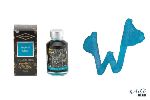 Diamine Shimmertastic Fountain Pen Ink Bottle - Tropical Glow