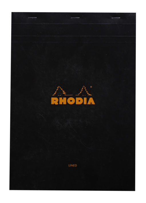 Rhodia No.18 Black Lined with Margin Cover