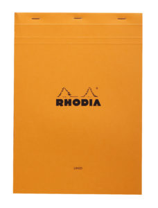 Rhodia Orange - A4 Lined with Margin