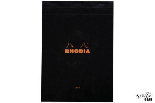 Rhodia Head Stapled Black