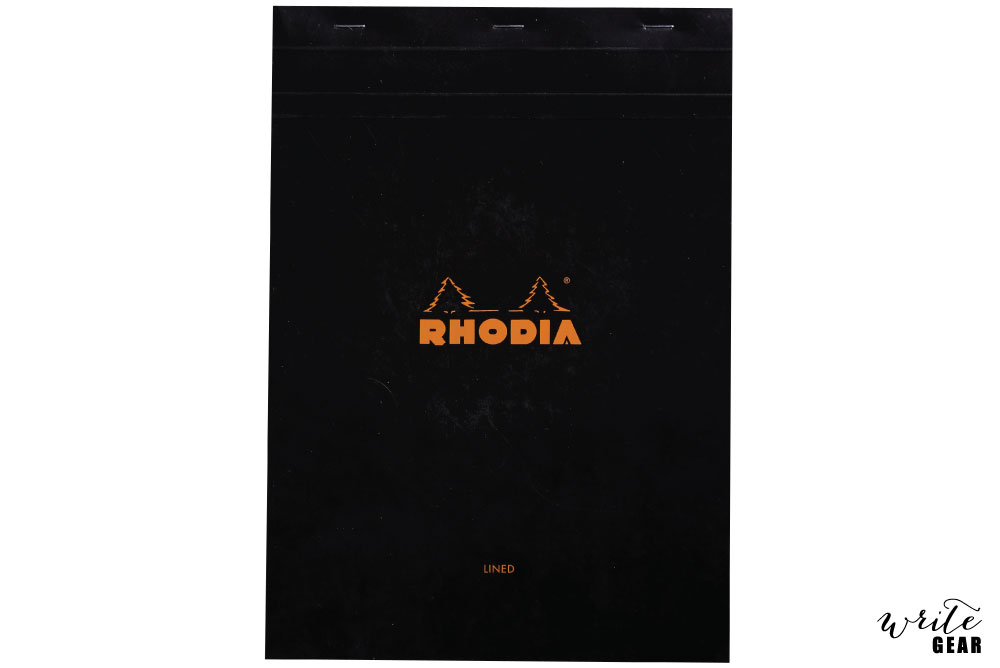 Rhodia Head Stapled Black