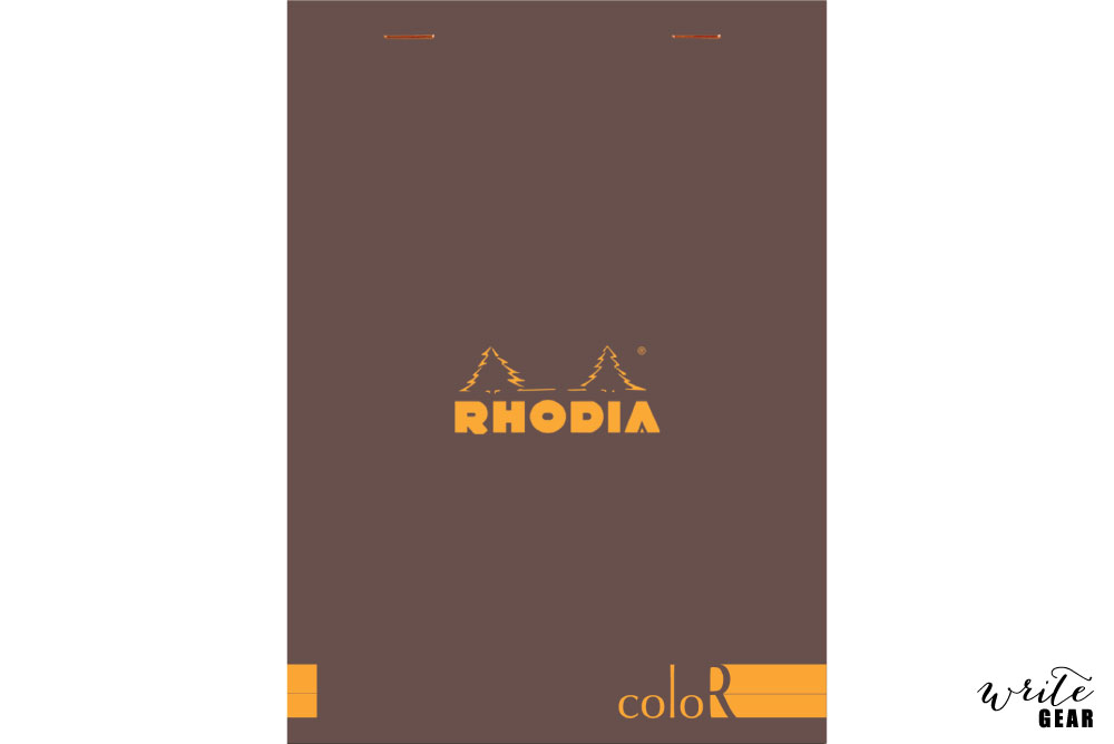 Rhodia Head Stapled - Chocolate