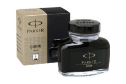 Parker Quink Fountain Pen Ink Bottle Black