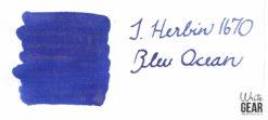 J.Herbin Bleu Ocean Ink Swab - 1670 Ink Collection