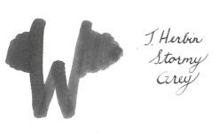 J.Herbin Stormy Grey Ink Swab - 1670 Ink Collection