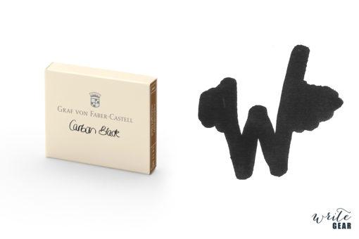 Graf von Faber-Castell Ink Cartridges (Box of 6)- Carbon Black