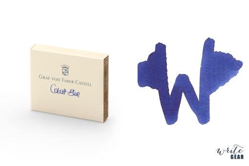 Graf von Faber-Castell Ink Cartridges (Box of 6) - Cobalt Blue