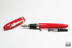 Jinhao 159 Fountain Pen Red Uncapped