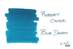 Robert Oster Signature Fountain Pen Ink Blue Denim