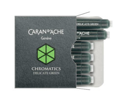Caran d'Ache ink Cartridges - Delicate Green