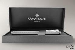 Caran D'Ache Palladium coated chevron ecridor box