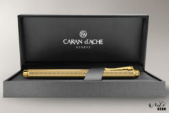 Caran D'Ache Gold-Plated Ecridor Chevron Fountain Pen