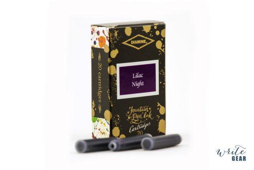 Diamine 150th Anniversary Fountain Pen Ink Cartridges 20pcs – Lilac Night