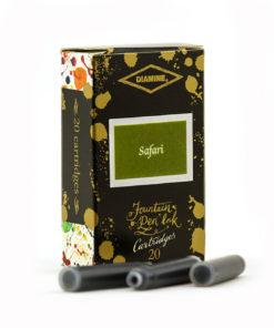 Diamine 150th Anniversary Fountain Pen Ink Cartridges 20pcs – Safari