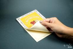 Life L Brand Letter Pad Cream on Dark - Open