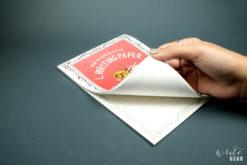 Life L Brand Letter Pad White on Dark - Open