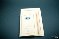 Life Vermillion Notebook on Dark - Size Comparison