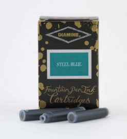 Diamine Ink Cartridge - Steel Blue