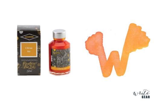 Diamine Shimmertastic Fountain Pen Ink Bottle - Citrus Ice