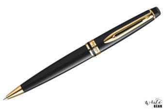 Waterman Expert 3 Black Ballpoint Pen with Gold Trim