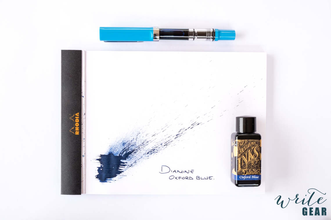 Diamine Oxford Blue Swab on Rhodia