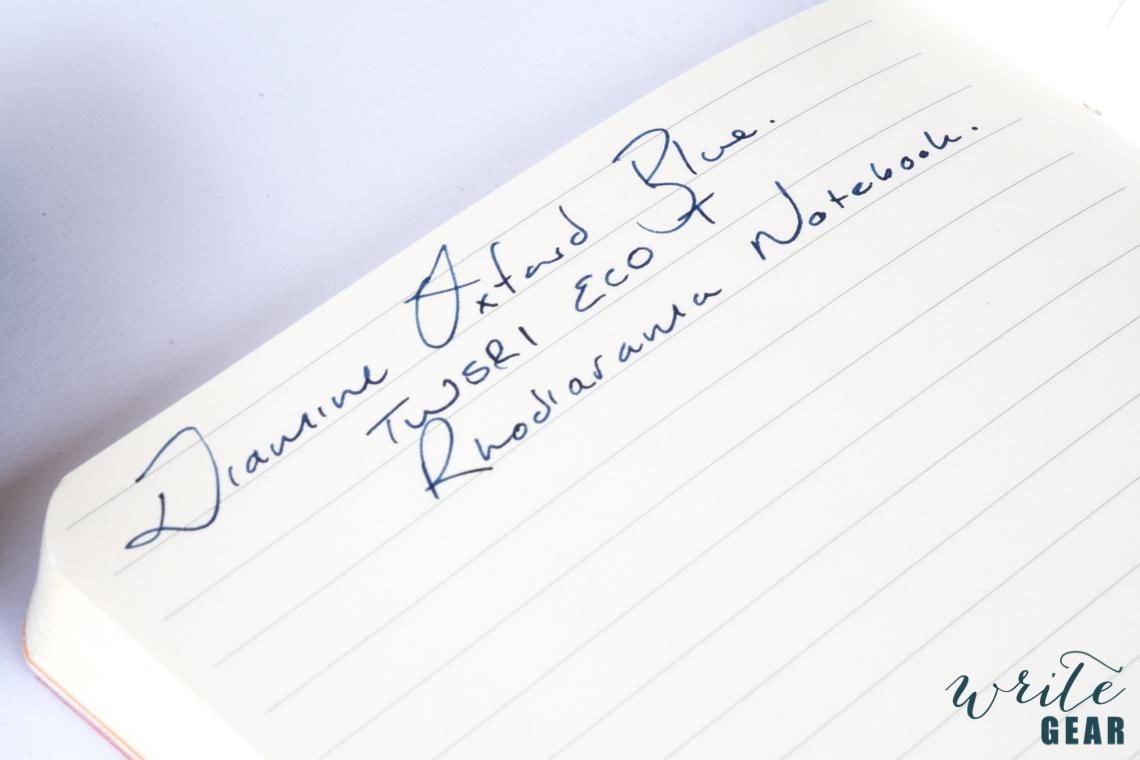 Diamine Oxford Blue On Paper