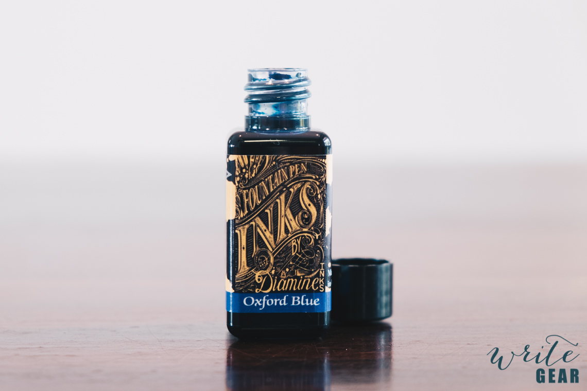Diamine Oxford Blue - Bottle Open