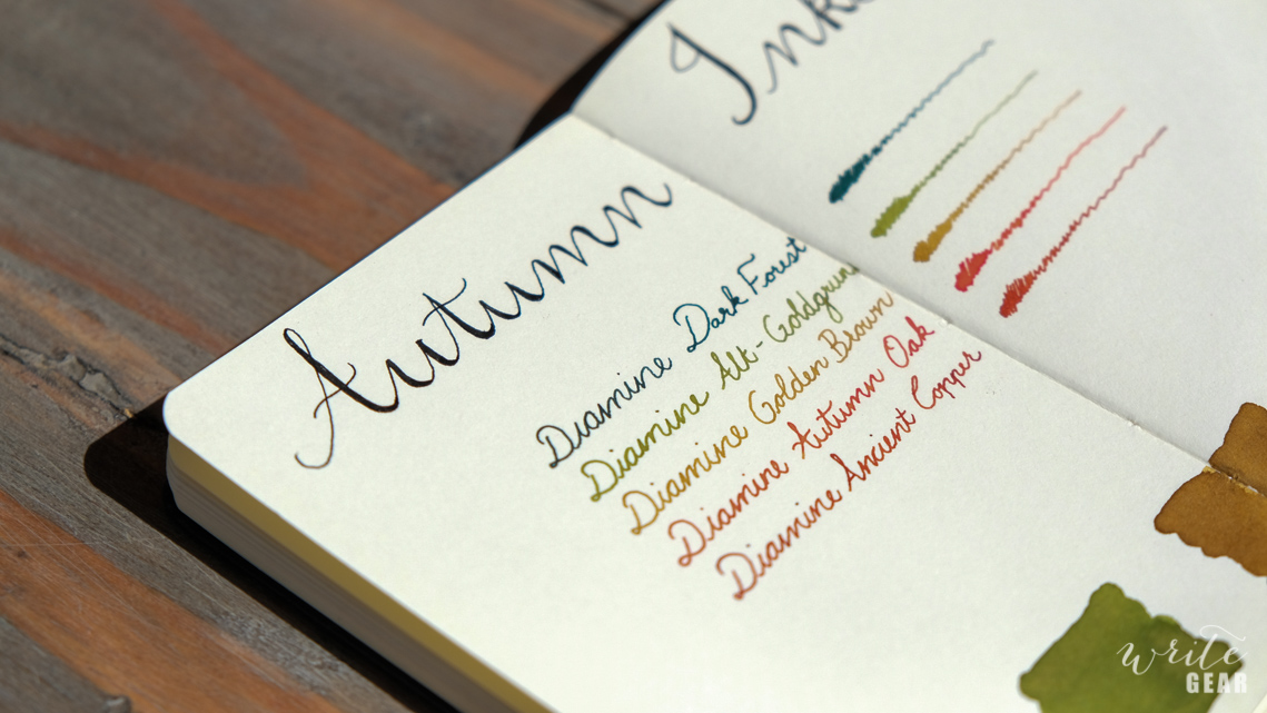 Autumn Ink Palette - Side