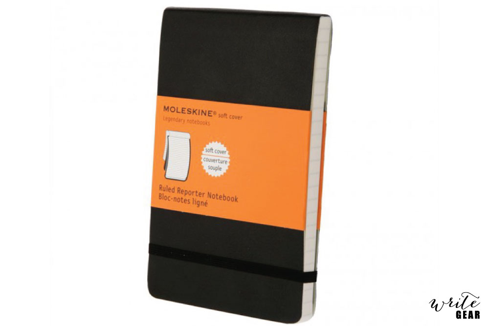 Moleskine Classic Reporter Notebook Black, Soft Cover - Ruled
