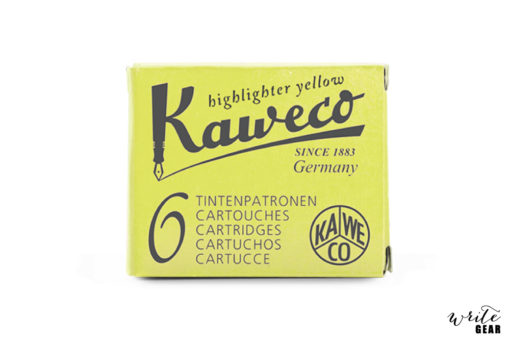Kaweco Ink Cartridge Box - Highlighter Yellow