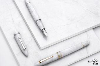 Leonardo Fountain Pens - White Salt