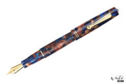 Leonardo Momento Zero Fountain Pen - Pietra Marina with Gold Trim