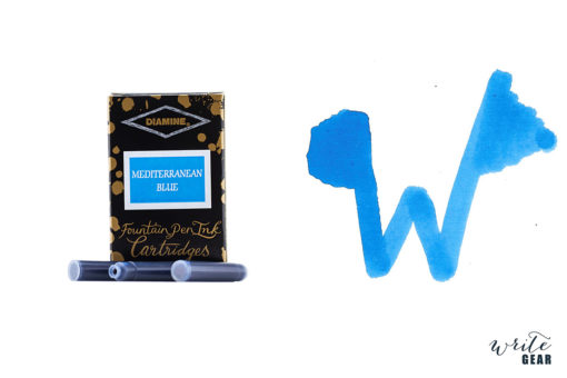 Diamine Ink Cartridge 6 Pack - Mediterranean Blue