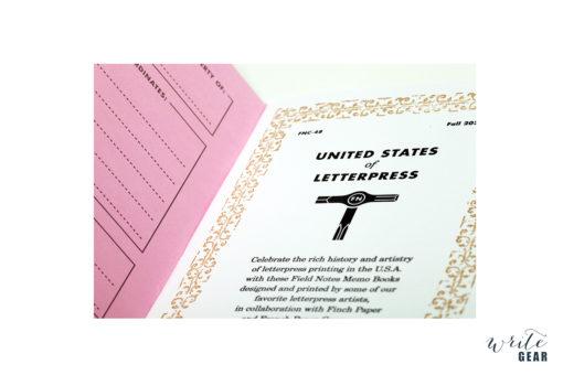 Field Notes Letterpress Inside Cover