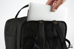 "Fjallraven Kanken Laptop 13"" with Laptop Pulling out of bag"
