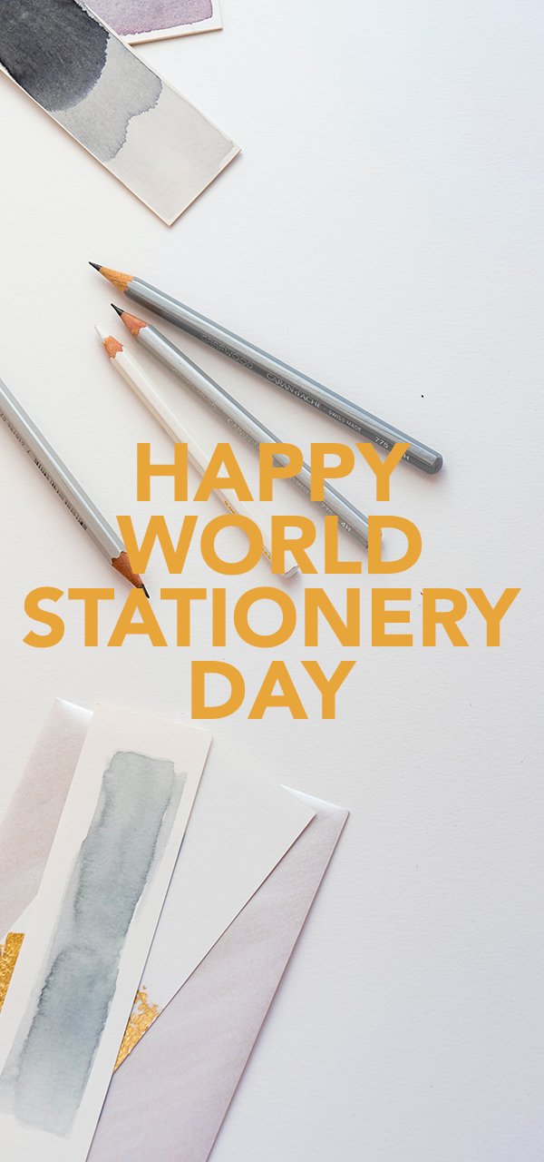 World Stationery Day Banner Mobile