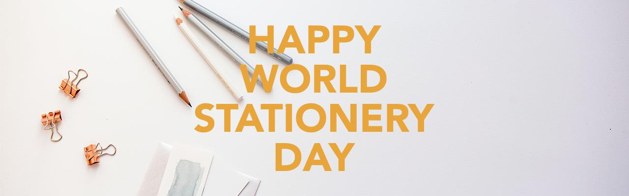 World Stationery Day Banner
