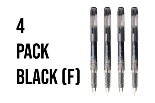 Platinum Preppy Fountain Pen Pack of 4 - Fine - Black
