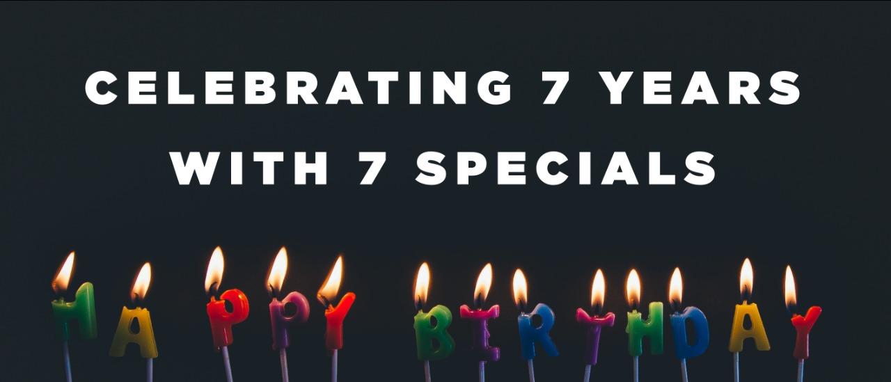 7 Years Banner